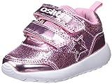 Conguitos Deportivo Luces Velcro, Zapatos de Cordones Derby para Niñas, (Rosa 11), 24 EU