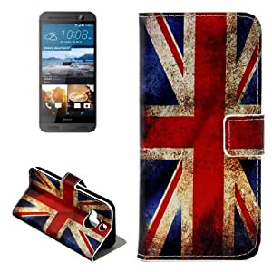 Crazy4Gadget Retro UK Flag Pattern Leather Case with Holder & Card Slots & Wallet for HTC One M9+