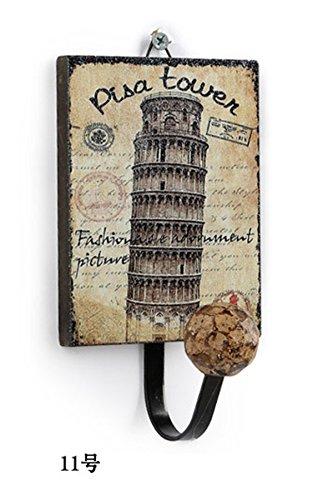 Pisa Tower (Retro Vintage Creative Wandhalterung Aufhänger Eisen Rack Hat Tasche Kleiderbügel Haken Home Bad Decor £ ¬ Kleiderhaken £ ¬ Handtuch Haken TOWER OF PISA)