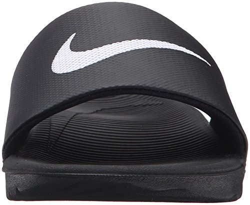 Nike Mens Kawa Slide Synthetic Sandals Schwarz Weiss