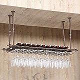 MoDi Weinregale Weinregal Hängende Weinregale auf Den Kopf Goblet Racks Weinregale Küche Bar Restaurant Cup Holders (größe : 120 * 30cm)