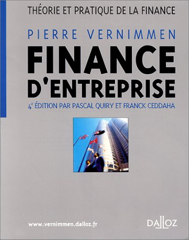 Finance d'entreprise : Thorie et pratique de la finance, 4e dition