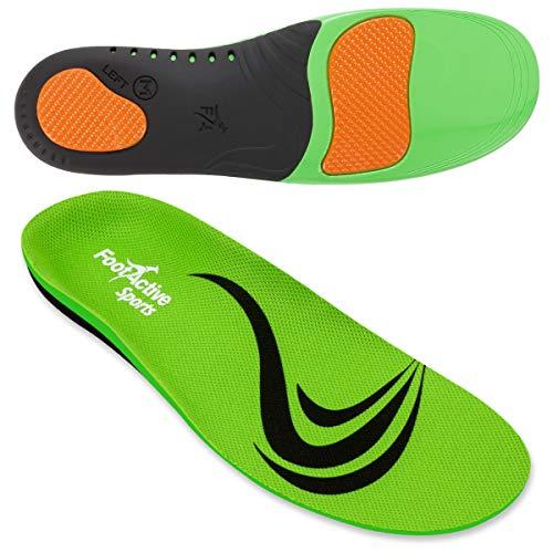 FootActive SPORT - Einlegesohlen für Sport, Freizeit und Beruf, Green, 44 - 45 (Large)