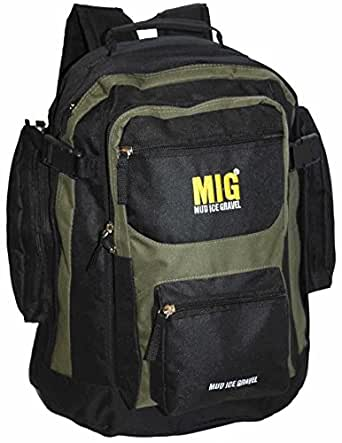 Mens Backpack Rucksack Bags By Mig in Multiple Styles & Colours - SPORTS TRAVEL WORK HIKING SCHOOL FISHING (KHAKI & OLIVE)
