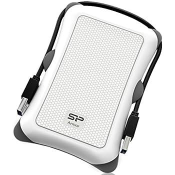 """Silicon Power Rugged Armor A30 - Disco duro externo portátil de 1 TB (2.5"""", USB 3.0, SATA III), color blanco"""