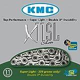 KMC Chain X-11-SL Cadena Estrecha, Unisex adulto, Gris, 114 eslabones