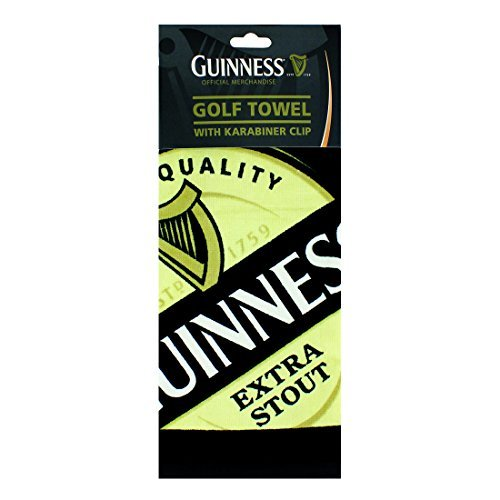 Guinness-Serviette de Golf avec clips de suspension