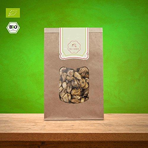 süssundclever.de Feigen Bio | 1 kg | getrocknet, ungeschwefelt, ungezuckert | 100% hochwertiges Naturprodukt | plastikfrei und ökologisch-nachhaltig abgepackt | getrocknete Feigen