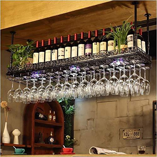 Stilvolle Einfachheit Daunen Weinregal, Vintage Schmiedeeisen Weinregal, Bar Weinregal, Kreative Display-Ständer, Home Becherhalter, Schrank Bar Küche Höhenverstellbar (Multi-Color und Multi-Size), -