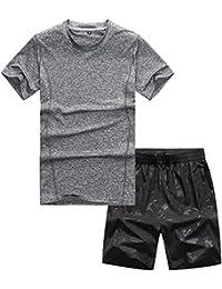 Xinwcang Chándal para Hombre Set de Ropa Verano Impreso Tracksuit 2Pcs Manga Corta Camiseta y Pantalones Cortos Deportivas Shvwa