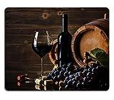 Luxlady ratón para Gaming imagen ID: 22772161todavía vida con rojo botella de vino y barril