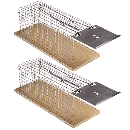 Holz-Rattenfalle Schnappfalle, wiederverwendbar,