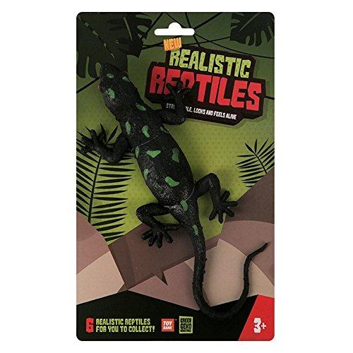 Green Geko wdx92737-blackgreenspot Salamander Realistische und Elastisches Gummi Reptile Spielzeug