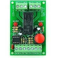 ELECTRONICS-SALON, Montaje en panel, control con interruptor momentáneo/señal de pulso, módulo de relé con dos conmutadores (DPDT), 12V