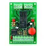 ELECTRONICS-SALON Panel Mount Momentary-Switch/Pulse-Signal Control Latching DPDT Relay Module,12V