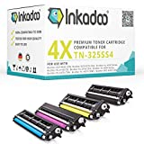 Inkadoo® Cartouche de Toner Compatible TN-325 TN-325 , TN325BKTN325BK,TN-325 BK - 4x Cartouche de Toner Noir, Cyan, Magenta, Jaune - 1x4000 & 3x3500 pages