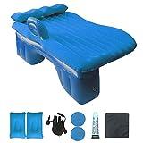 QEL Auto Reisebett Split Design mit Luftpumpe für Reisen und Fahren Erschöpfung Nach Rest 135* 80* 37cm, Blau