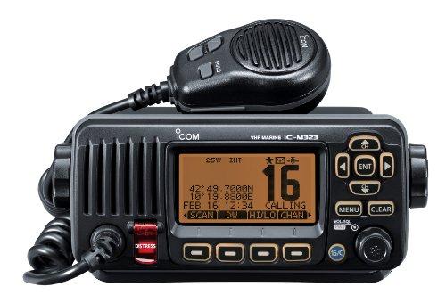ICOM M323 - Radio Marina compatta VHF/DSC, Colore: Nero