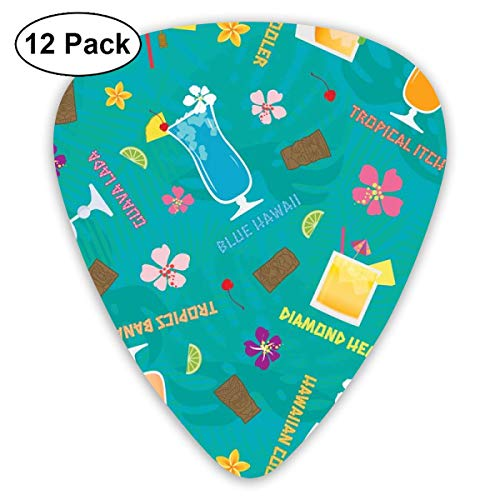 Hilton Hawaiian Village (Hilton Hawaiian Village Tropical Mixed Drinks Toss_3116 Classic Celluloid Picks, 12-Pack, For Electric Guitar, Acoustic Guitar, Mandolin, And Bass)