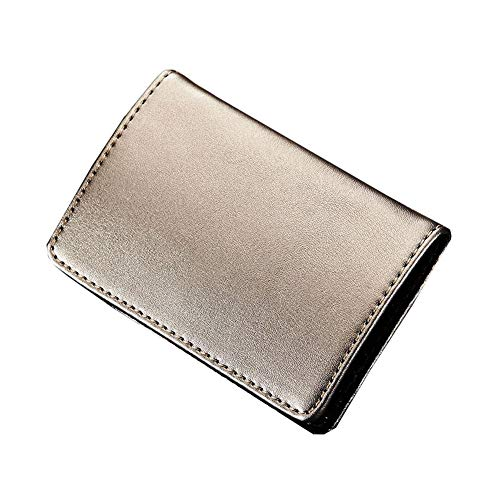 Visitenkartenetui Visitenkartenetui Fashion Kreatives Leder Curved für Männer Frauen (Silber) -