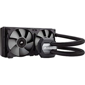 Corsair Hydro H100i v2 All-in-One Liquid CPU Cooler Sistema di Raffreddamento a Liquido, Radiatore da 240 mm, Due Ventole SP120 PWM, Nero