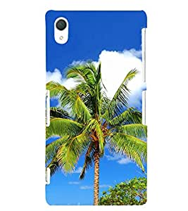 Palm Tree 3D Hard Polycarbonate Designer Back Case Cover for Sony Xperia Z2