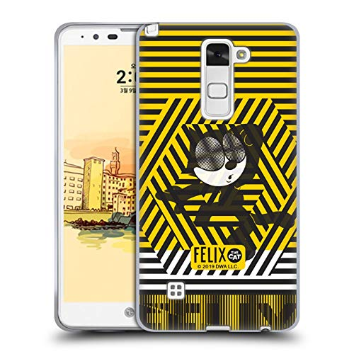 Head Case Designs Offizielle Felix The Cat Streifen Farbig Soft Gel Huelle kompatibel mit LG Stylus 2 Str Stylus