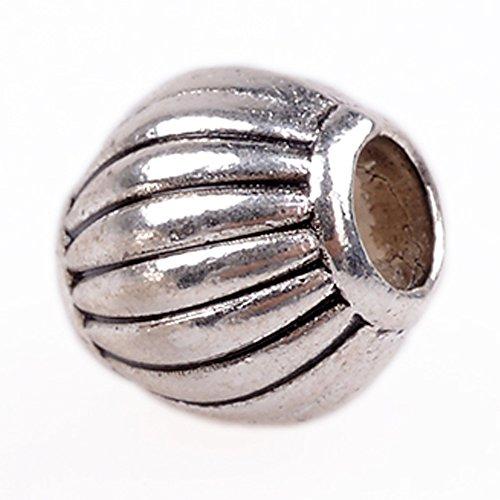 rubyca 30/50tibetischen Perlen Distanzhalter Silber Armband passend für europäische Charms verschiedene Design, metall, Model 23, 30 PCS (Floral Cross Kit)