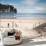 decomonkey | Fototapete Strand Meer 350x256 cm XXL | Design Tapete | Fototapeten | Tapeten | Wandtapete | moderne Wanddeko | Wand Dekoration Schlafzimmer Wohnzimmer | FOB0004a73XL
