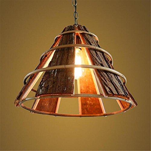 Rinde Wohnzimmer (Atmko®Hängeleuchte Kronleuchter Moderne Kronleuchter Anhänger Wohnzimmer Esszimmer Woody Rinde Lampe Schatten Deckenleuchten 220V)