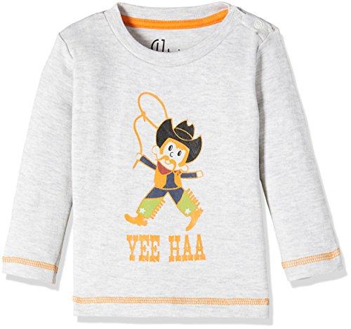 Gini and Jony Baby Boys' T-Shirt (151246513421 C204_White Melange (C204)_18M-24M)