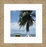 Cadre Photo avec Passe-Partout Super Blanc Cadre Photo Mural pour Image 24x25 / 24 x 25 cm Cadre Naturel Beige, 3.5 cm de Largeur, Cadre en Bois