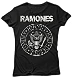 LaMAGLIERIA Camiseta Mujer Ramones - Grunge Logo Camiseta 100% algodòn, S,...