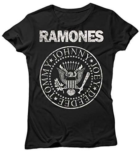 LaMAGLIERIA Camiseta Mujer Ramones - Grunge Logo Camiseta 100%...