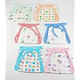 Baby Shopiieee Reusable Cotton Cloth Diaper/Langot/Nappy For New Born Baby (0-3 Months Pack Of 6) Print & Color May Vary