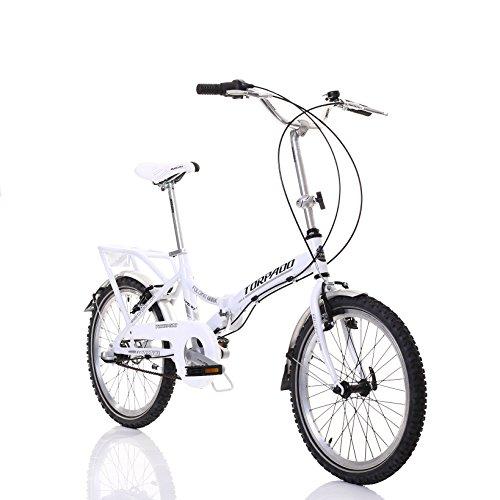 """'TORPADO Faltrad Folding 20""""Alu 1V weiß (faltbar)/Bicycle Foldable Folding 20Alu 1V White (Folding)"""