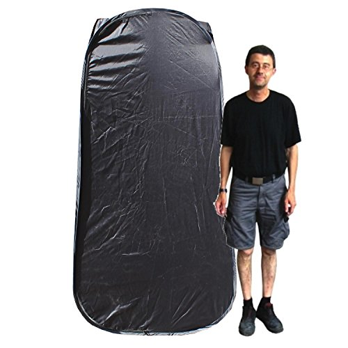 Cablematic - Vestuario portátil de lona negra para fotografía de 90x90x190cm cambiador