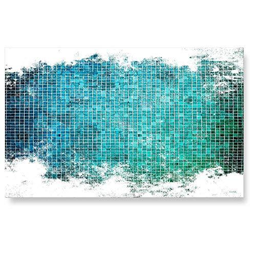 "LANA KK Küchenrückwand - Glasbild\""Mosaik\"" Abstraktes Design edler Kunstdruck hinter 6 mm starkem Sicherheitsglas, Bunt, 90 x 60 x 0.6 cm"