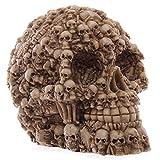 CHINABOS Scultura Homosapie Skull Statue Figurine Figura Umana Scheletro Testa Demone Medico Ghost Evil Multiple Samhain Accessori per la Decorazione Domestica
