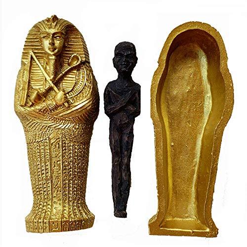 Alte ägyptische Dry Corpse Sarg Figur Skulptur Pharao Mama Statue Ornamente Aquarium Dekoration -