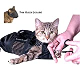 Downtown Pet Supply Cat Grooming Bag - LARGE, cat restraint bag + FREE Cat Muzzle