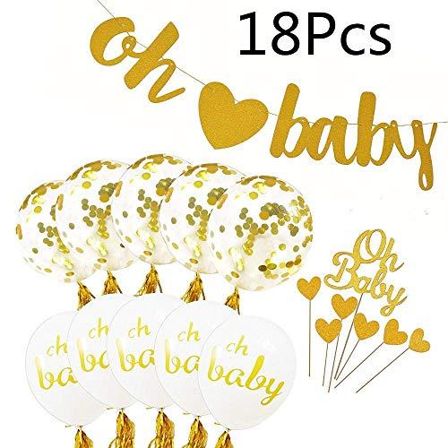 Jiaxingo Gold Baby Shower Dekoration Kit,