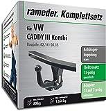 Rameder Komplettsatz, Anhängerkupplung Starr + 13pol Elektrik für VW Caddy III Kombi (123659-05084-1)