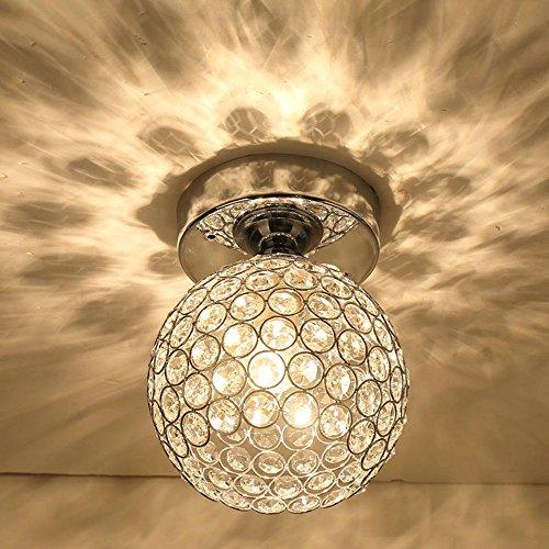 Vintage Deckenleuchte, Frideko Moderne Industrie kreativ Käfig Kristall Deckenlampe mit 5W Glühbirne Deko für Loft Bar Pub Cafeteria