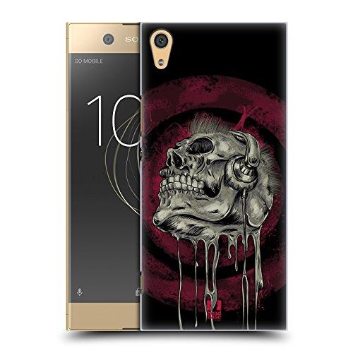 Head Case Designs Musik Schädel Skull of Rock Ruckseite Hülle für Sony Xperia XA1 Ultra/Dual