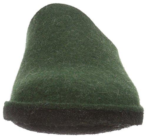 Haflinger Soft 311010, Chaussons mixte adulte Vert (35 Eibe)