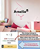 Wall Decals For Kids Rooms Personalized Decal Girls Name Sticker Rabbit Ears Nursery Home Decor aa13 (38 Tall)