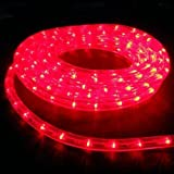 Pivot Waterproof LED Rope Light With Adapter 10 Meter Premium Quality (Red)
