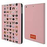 Head Case Designs Offizielle Emoji Rassen 2 Hunde Brieftasche Handyhülle aus Leder für iPad Air (2013)