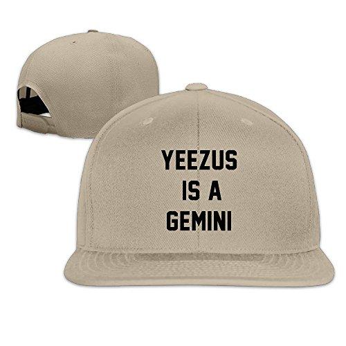 huseki-custom-yeezus-is-a-gemini-flat-baseball-caps-hats-natural